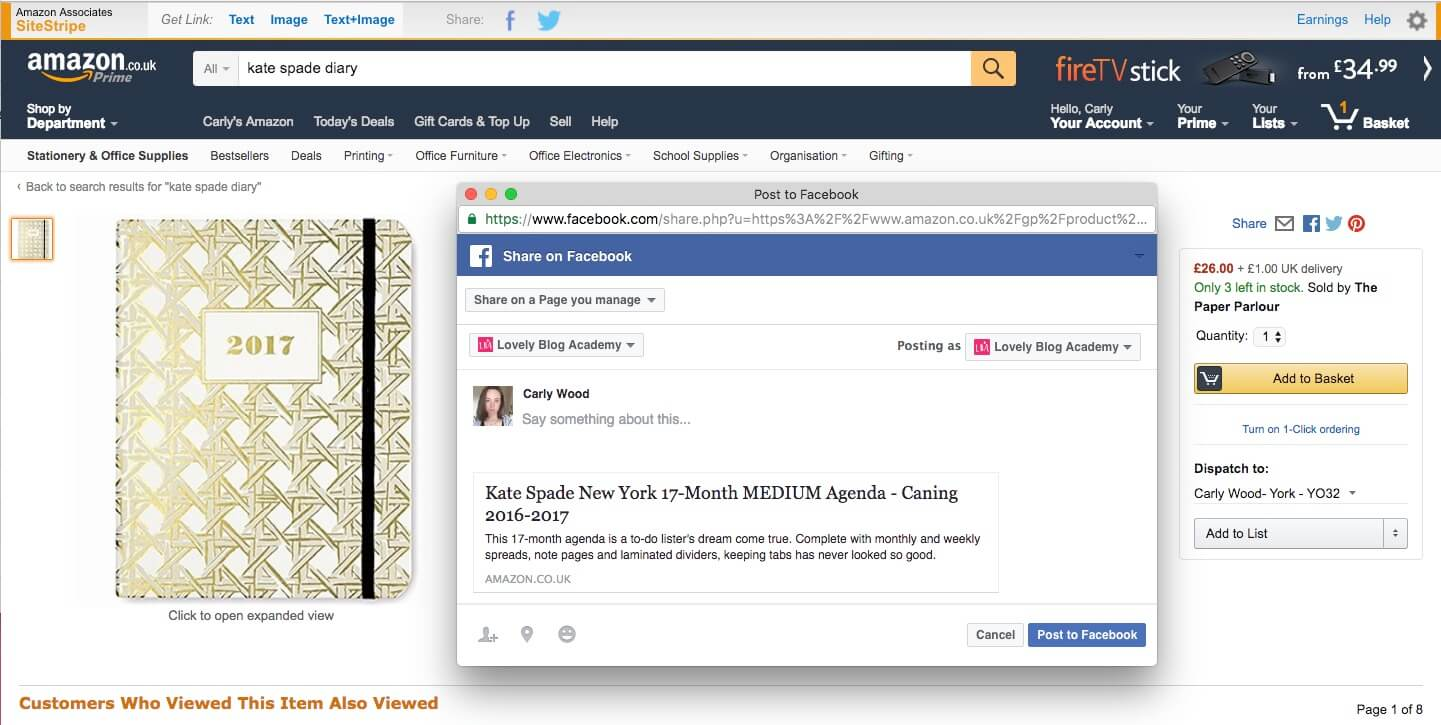 How to share Amazon Affiliate links to Facebook