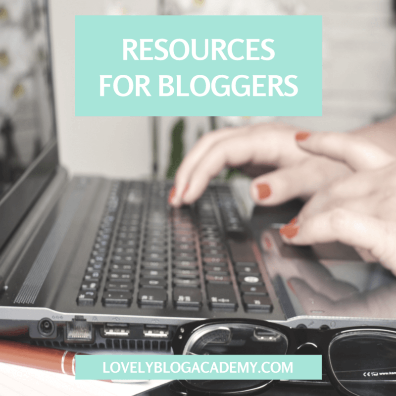 Tools and resources for bloggers recommended by LovelyBlogAcademy.com