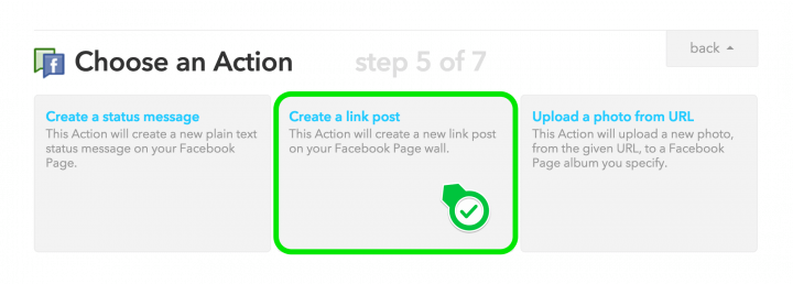 Connecting RSS with your Facebook page using IFTTT