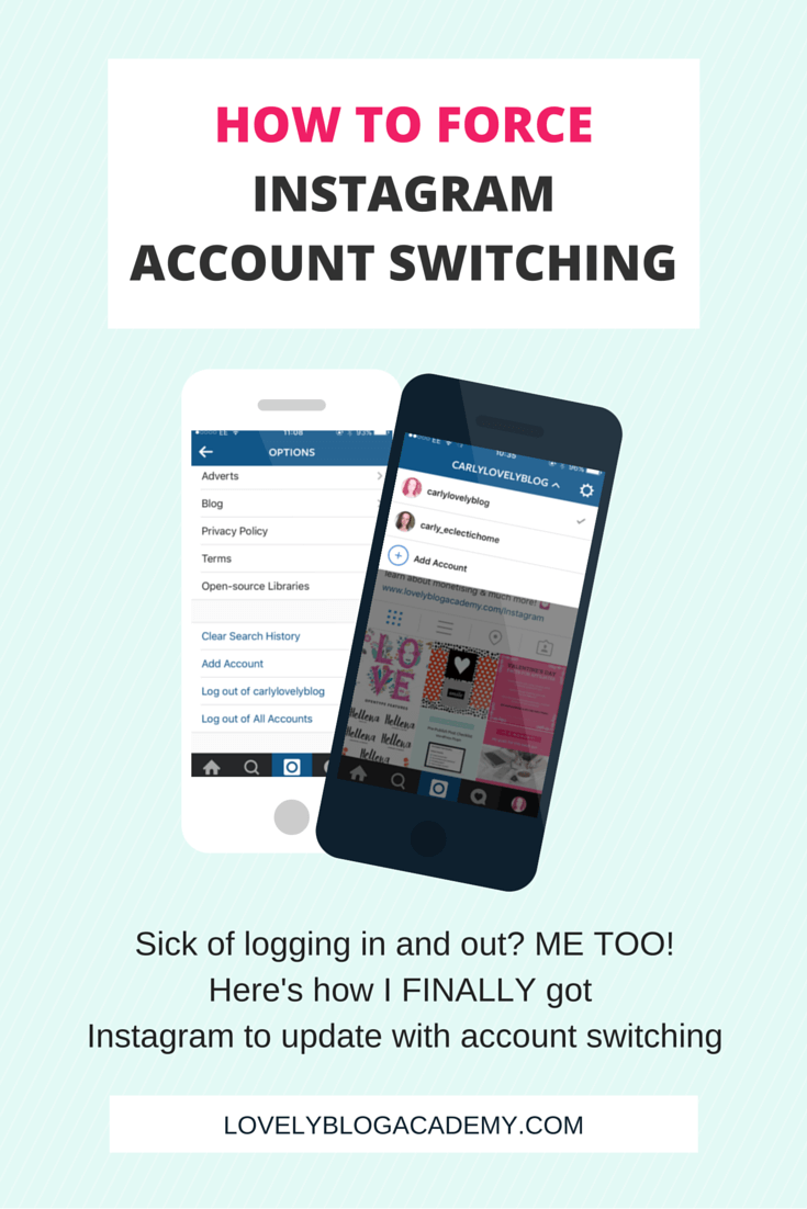 How To Force Instagram To Allow Account Switching How To Delete Instagram  Account On Website Solution