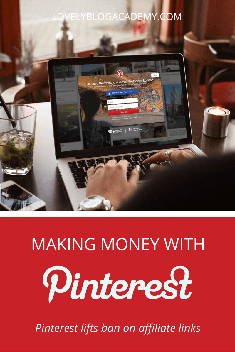 This week, Pinterest lifted their ban on affiliate links. Now you can monetize your Pinterest account using affiliate links again. Yay!