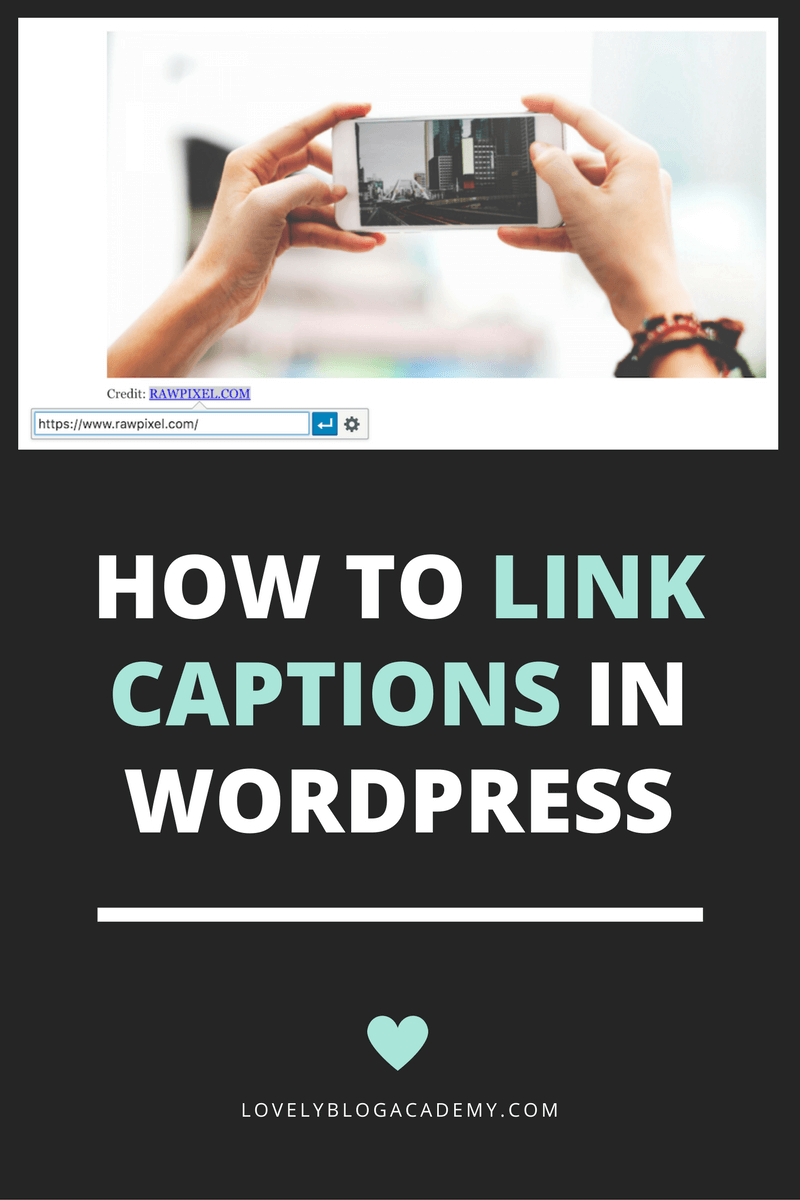 how to link image captions on WordPress