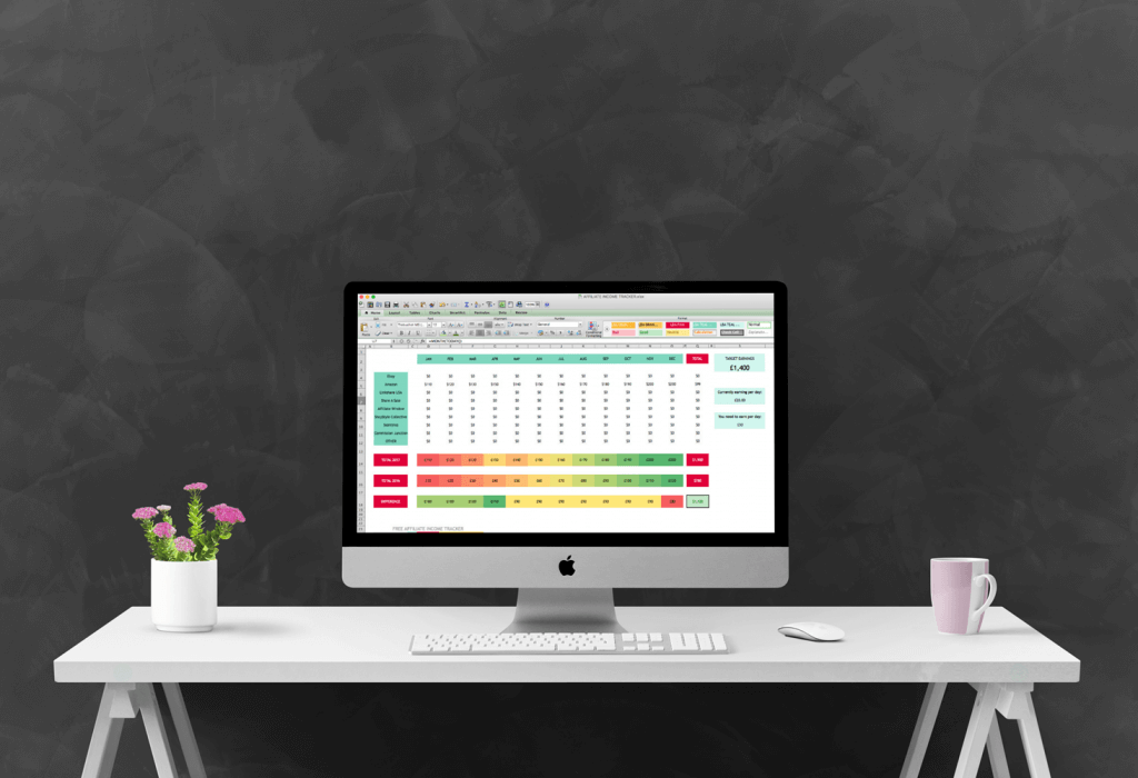 FREE: Blog income tracking spreadsheet