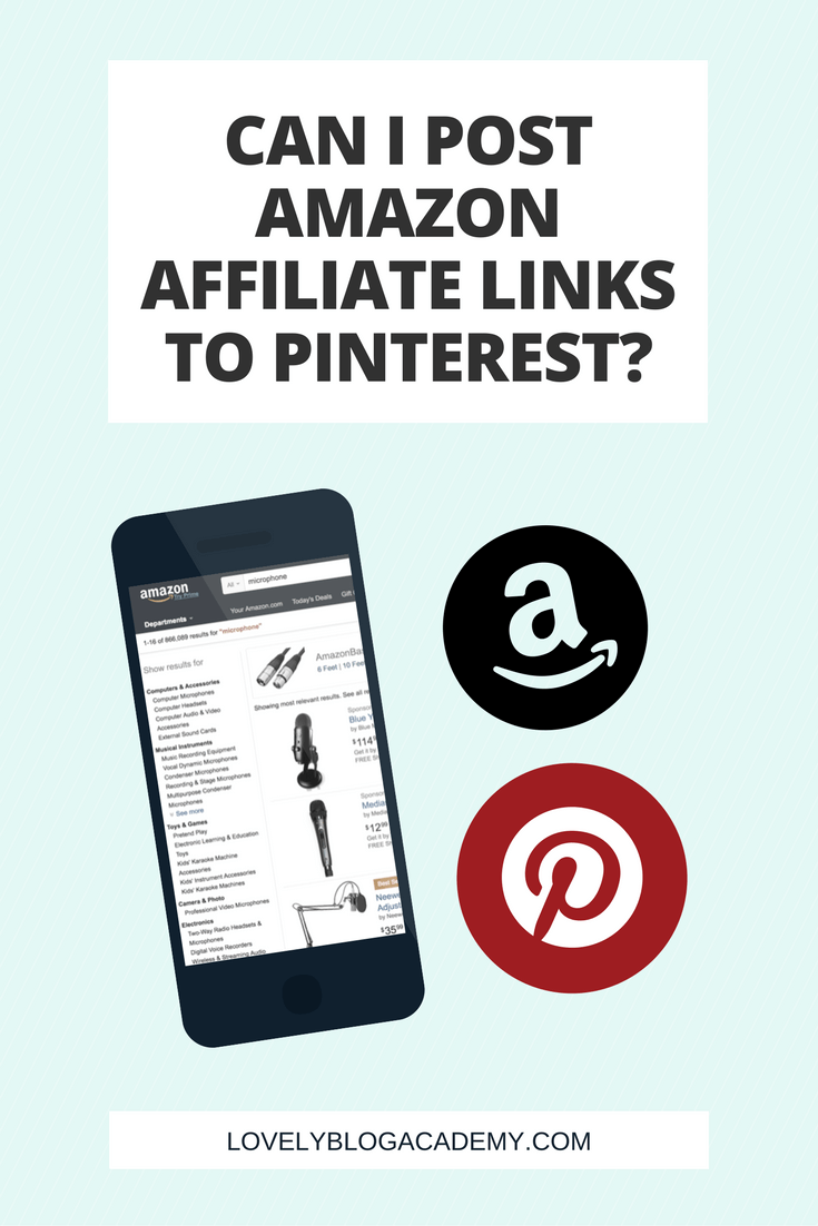 Can I use Amazon Affiliate links on Pinterest?