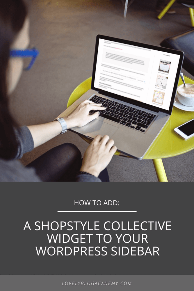 how to add a shopstyle collective widget to your WordPress sidebar