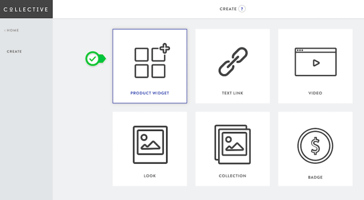 Choose product widget
